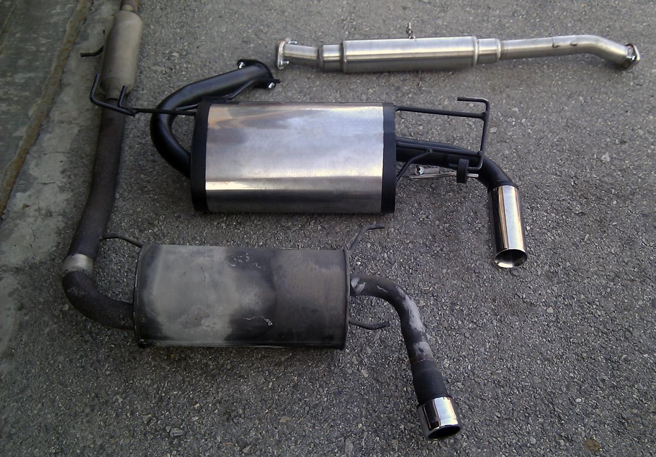 MX-5 Auspuff Alt vs. BBK Edelstahlanlage