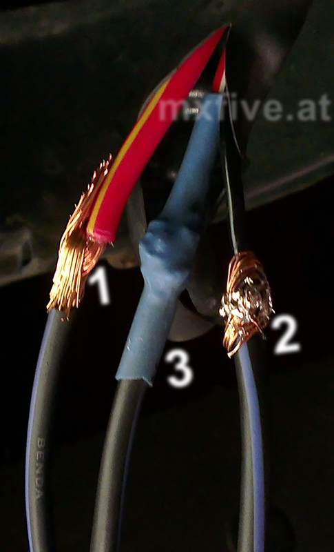Die Steps beim verbinden des neuen Steckers