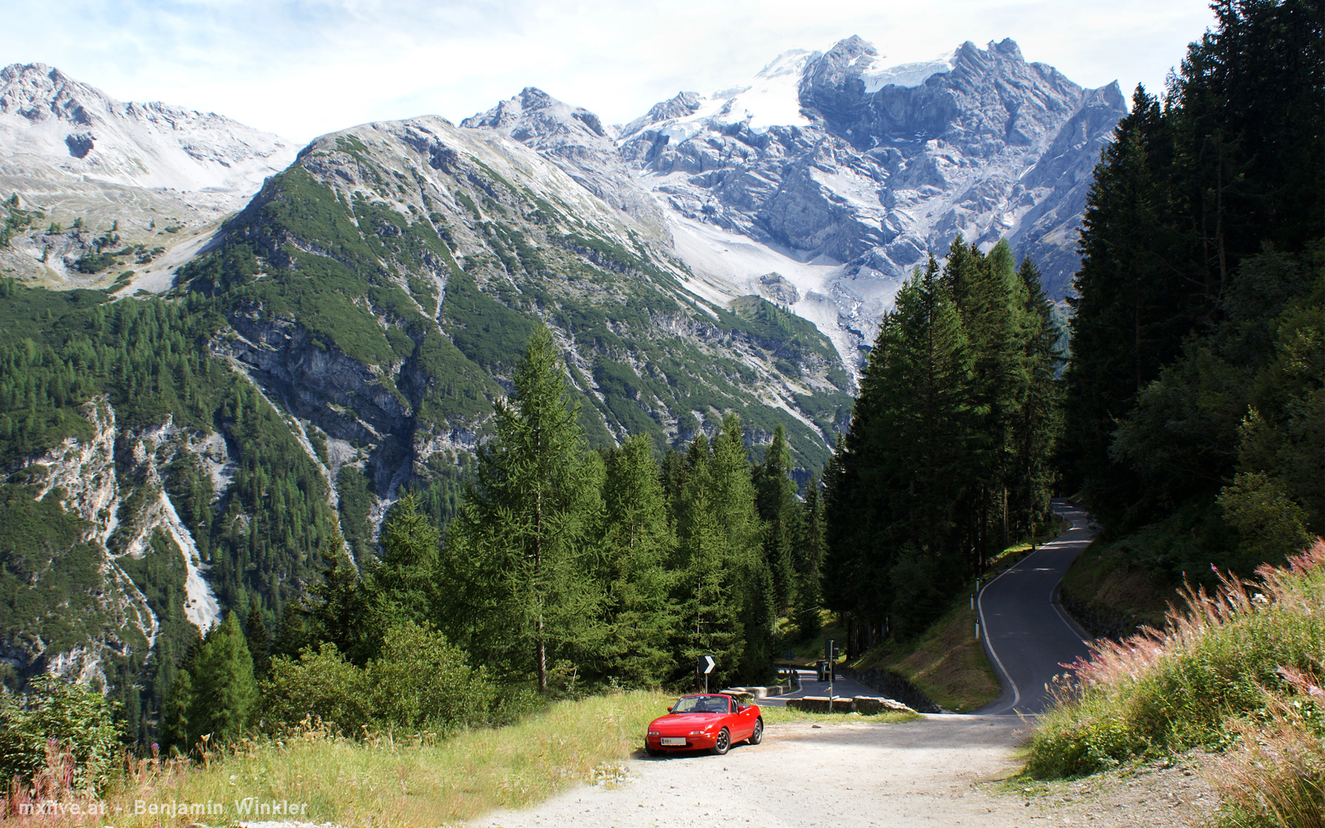 Stilferjoch Auffahrt Tirol/Italien