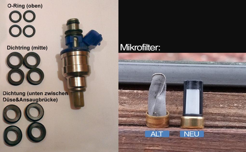 MX-5 Einspritzdüsen Dichtungen Filter günstig