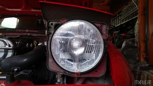 Mazda MX-5 NA Leuchtmittel Glühbirnen tauschen