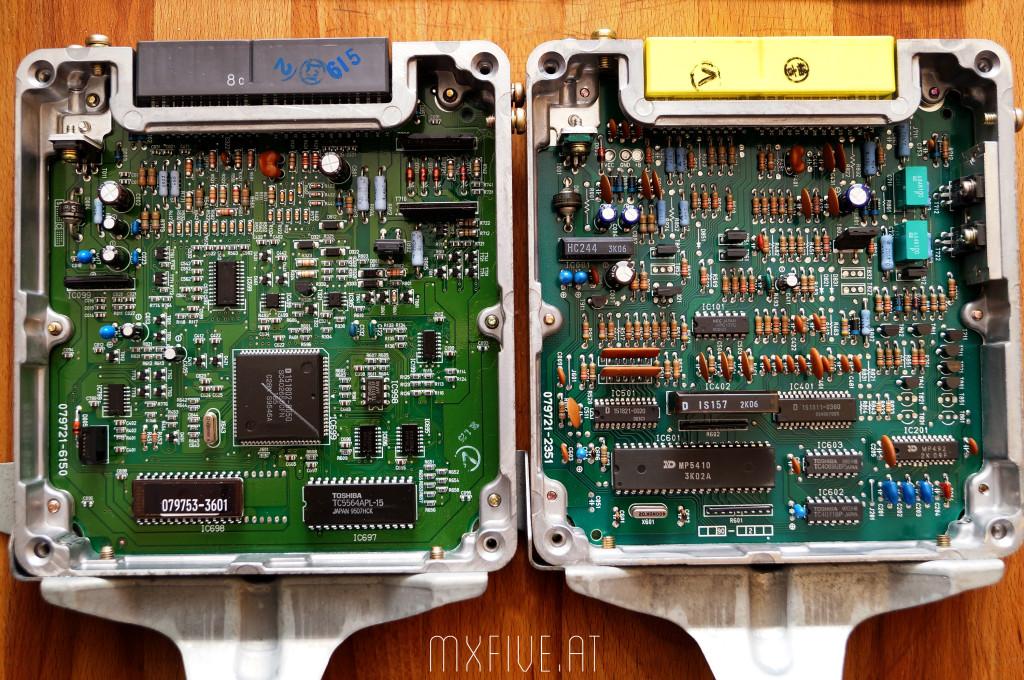 Mazda MX-5 NA Steuergeräte im Vergleich