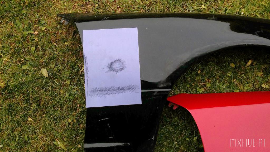 Miata Kotflügel auf MX-5 NA
