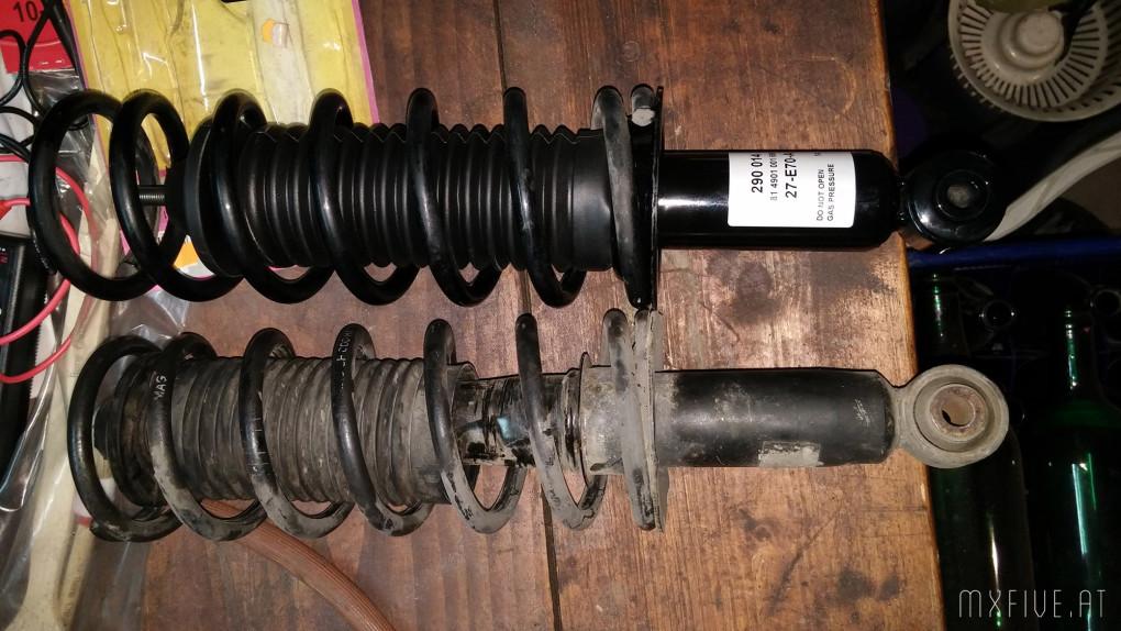 MX-5 NA alte und neue Stoßdämpfer
