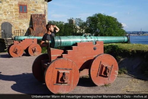 Oslo Kanone auf Festung
